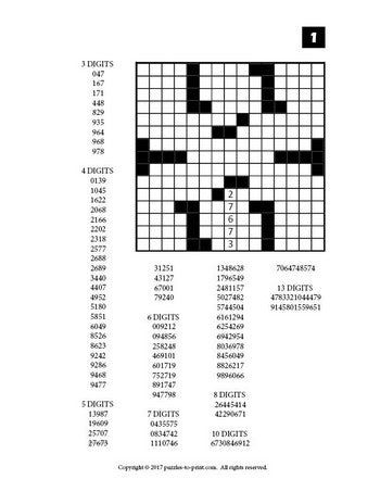 picture relating to Fill in Puzzles Printable named Range Fill Inside of Puzzles, Total 3 - PRINTABLE PDF