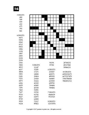 It is a graphic of Exhilarating Printable Fill in Puzzle