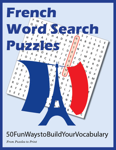 French Word Search Puzzles, Cover