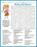 Good Manners Word Search