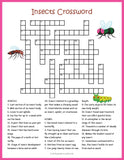 Insects Puzzle Bundle, Crossword