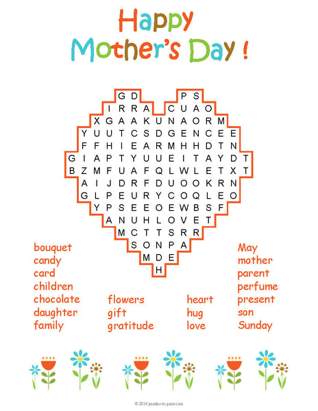 Mother S Day Puzzle Bundle Printable Pdf Puzzles To Print