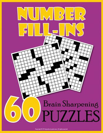 Number Fill In Puzzles, Volume 1 - PRINTABLE PDF