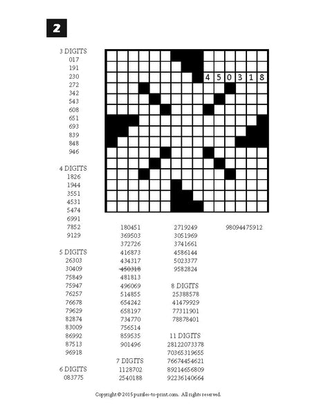 This is an image of Effortless Printable Fill in Puzzle