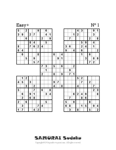 photograph regarding Sudoku Samurai Printable known as Samurai Sudoku - PRINTABLE PDF