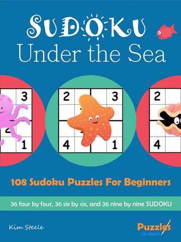 photograph about Under the Sea Printable named Sudoku Less than the Sea - PRINTABLE PDF