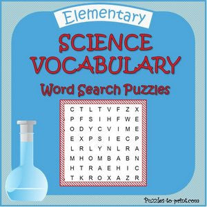 Science Word Search Bundle Printable Pdf Puzzles To