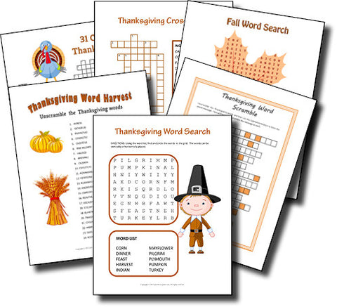 Thanksgiving Puzzle Bundle