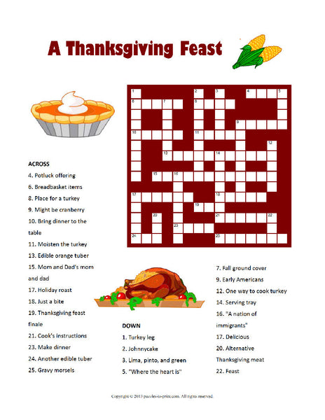graphic about Thanksgiving Puzzles Printable Free referred to as Thanksgiving 12 Puzzle Package deal - PRINTABLE PDF