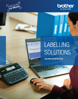 Brother Labelling Catalogue