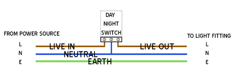 Matelec Day/Night Switch GTI 20C with LED Indicator Light on black white wire switch wiring diagram, switch to switch wiring diagram, 3 wire switch diagram,