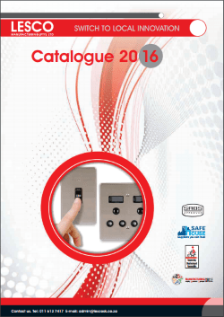 Lesco Product Catalogue
