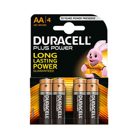 Duracell Plus Power Aa 4Pk