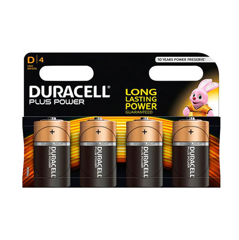 Duracell Plus Power D - 4pk