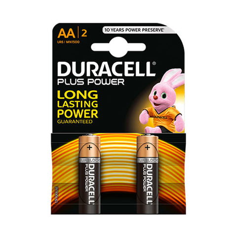 Duracell Plus Power Aa 2Pk