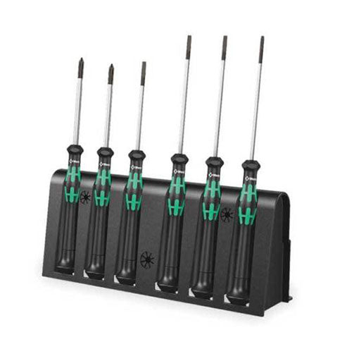 Wera 2035 6 A Screwdriver Set And Rack For Electronic Applications
