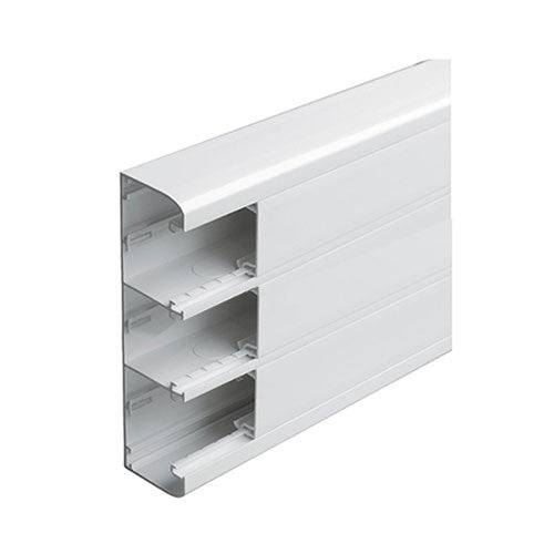 Legrand Snap On Trunking 3 Compartment 2M With Cover White