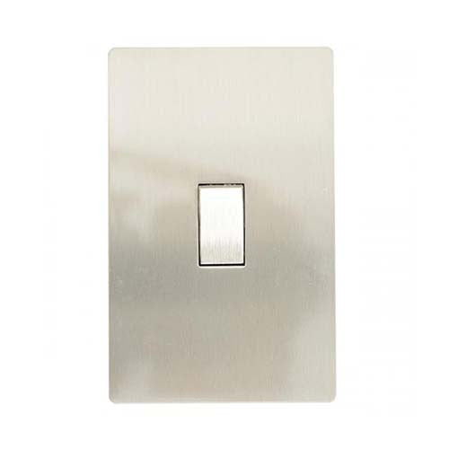 CBi Stainless Steel 1 Lever 2 Way Light Switch v1s/jos42/ss1g2w