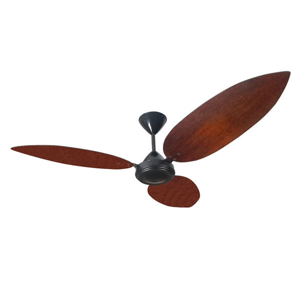 "Solent 59"" 3 Blade High Breeze 100 Ceiling Fan - Mahogany Tear Drop"