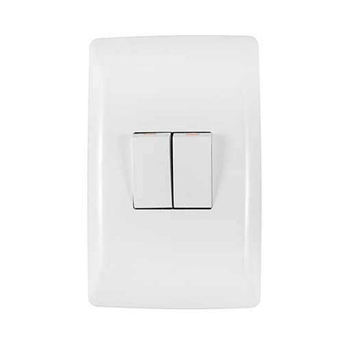 Crabtree Diamond 2 Lever Light Switch