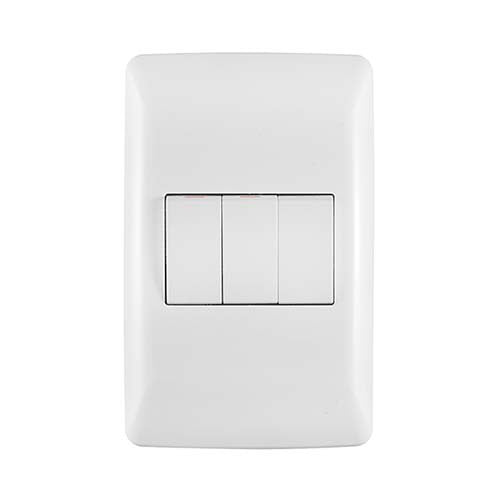 Crabtree Diamond 3 Lever 2 x 1 Way & 1 x 2 Way Light Switch