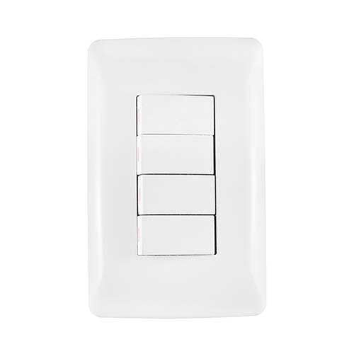 Crabtree Diamond 4 Lever Light Switch