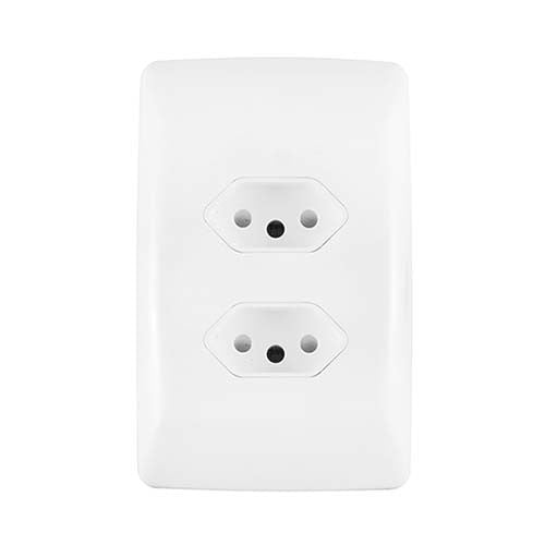 Crabtree Diamond Duo Unswitched Socket