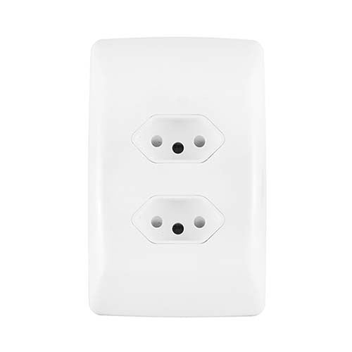 Crabtree Diamond Double Slimline Unswitched Socket