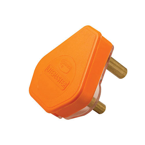 Crabtree Plug Top 3 Pin 16A Orange