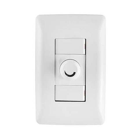 Crabtree Diamond Rotary Dimmer with 2x1 Way Light Switches 10803/601