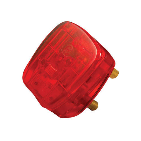 Crabtree Dedicated Plug Top 3 Pin 16A Red Fused