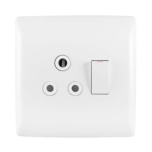 Crabtree Diamond Single Monoblock Socket Horizontal