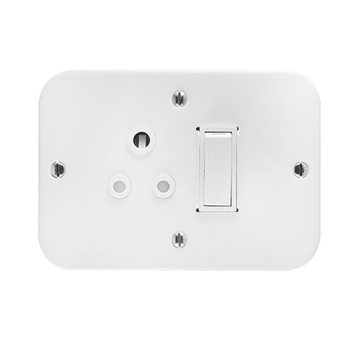 Crabtree Industrial Single 6A Socket In Surface Box 1