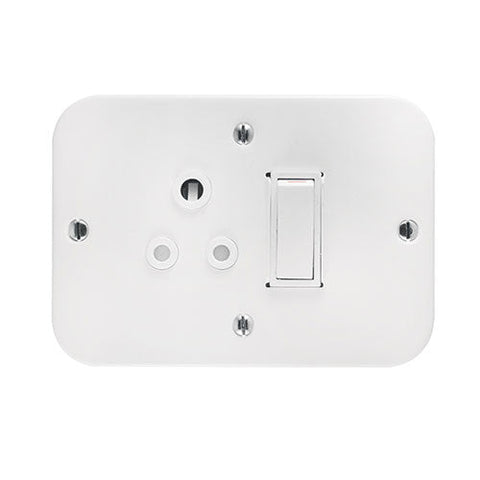Crabtree Industrial Single 6A Socket in Surface Box