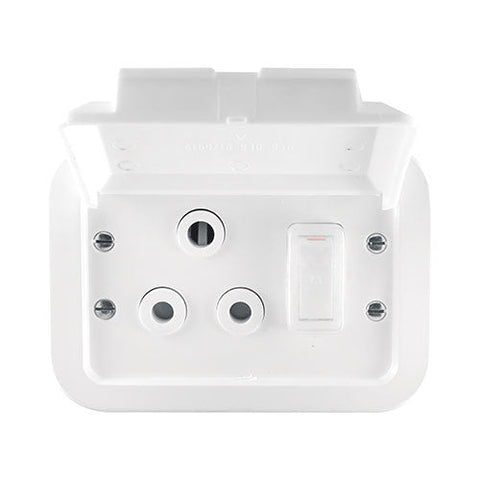 Crabtree Industrial Single 16A Weatherproof Socket White