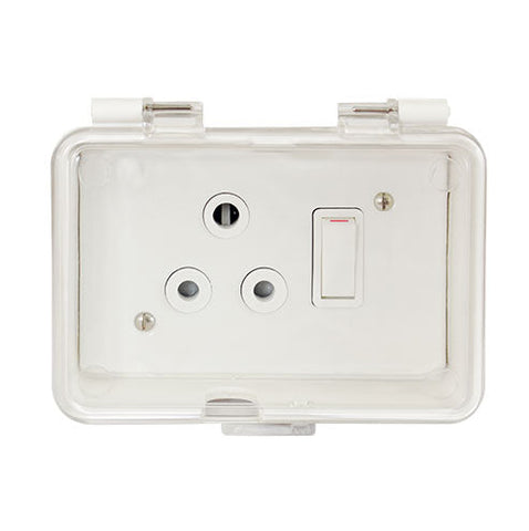 Crabtree Splash Proof Box Complete with Classic Socket