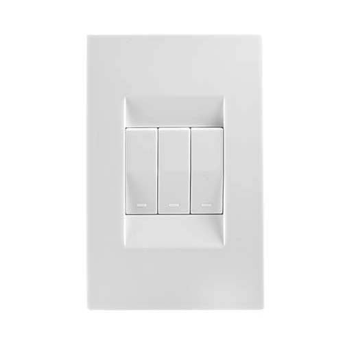 Crabtree Topaz  3 Lever Light Switch