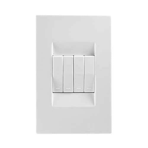 Crabtree Topaz 4 Lever 1 Way Light Switch
