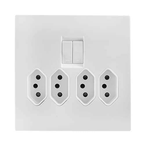 Crabtree Topaz 4 X Slimline Switched Socket