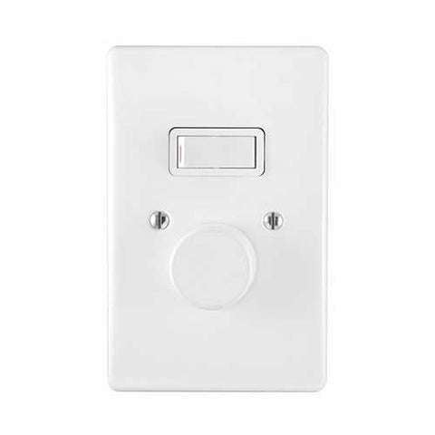 Crabtree Classic 500W LED Rotary Dimmer + Lever Switch