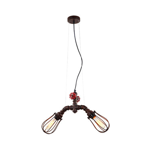 ACDC Steampunk Double Light Pendant