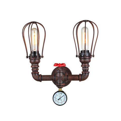 Steampunk Double Wall Light