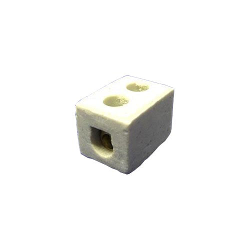 Matelec Porcelain Connectors 5 6A 1 Way 2 Hole