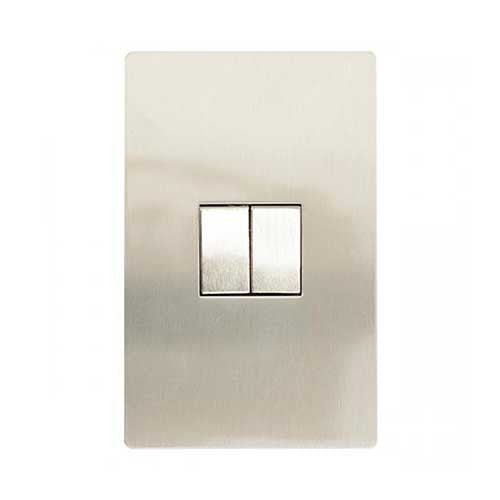 Cbi Stainless Steel 2 Lever 2 Way Light Switch
