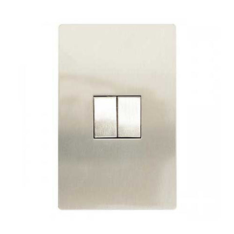 CBi Stainless Steel 2 Lever 2 Way Light Switch v1s/jos42/ss2g2w