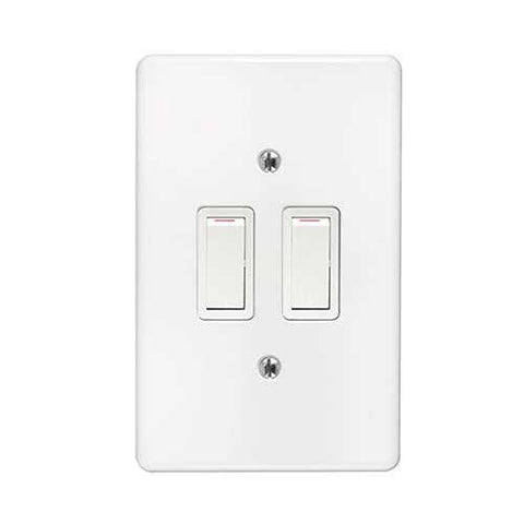 Crabtree Classic 2 Lever 1 Way Light Switch 2472+6542_101