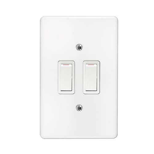 Crabtree Classic 2 Lever 1 x 1 Way + 1 x 2 Way Light Switch