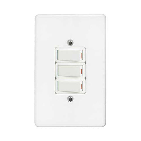 Crabtree Classic 3 Lever 1 Way Light Switch