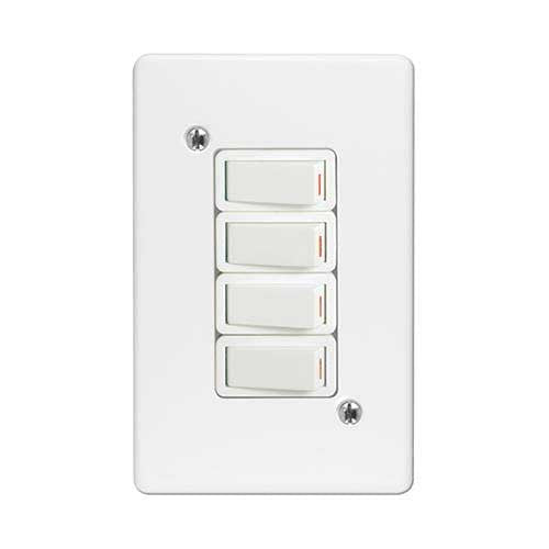 Crabtree Classic 4 Lever 1 Way Light Switch