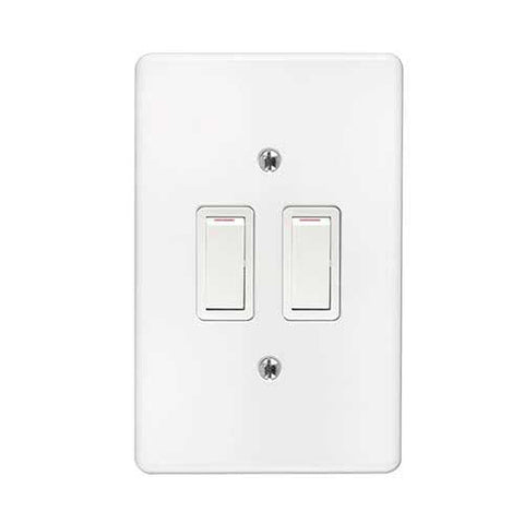 Crabtree Classic 2 Lever 2 x 2 Way Light Switch 2573+6542/101